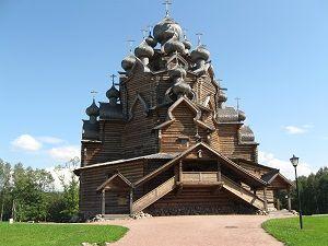 Деревянная церковь в Санкт-Петербурге