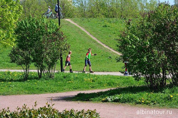 Петербург яблоневый сад горка