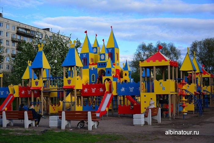 Детский городок фото май 2017 Яблоневый сад СПб