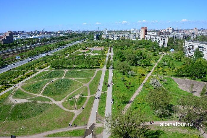 Фото Вид на территорию яблоневого сада в Купчино СПб 2017г.