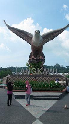 Малазия Лангкави у орла в сквере Eagle Square