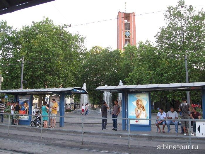 Германия трамвайная остановка Мюнхен
