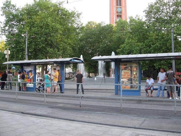 Германия остановка трамвая Sendliger Tor Мюнхен