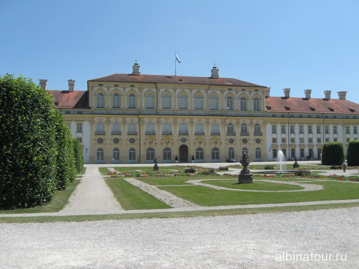 Германия вид Нового / Neues  Schloss дворца Шляйсхайм Мюнхен