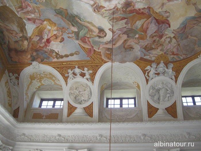 Бавария роспись потолка дворца Шляйсхайм Мюнхен