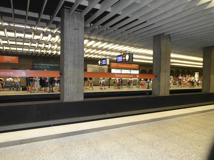 Германия Мюнхен станция метро Олимпияцентрум - olympiazentrum