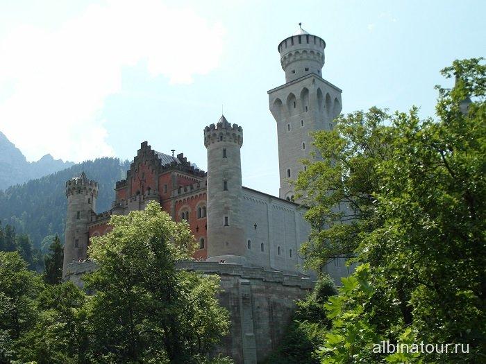 Германия первый вид замка Нойшванштайн