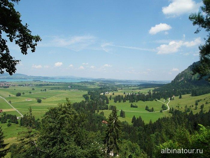 Германия Окрестности замка Нойшванштайн