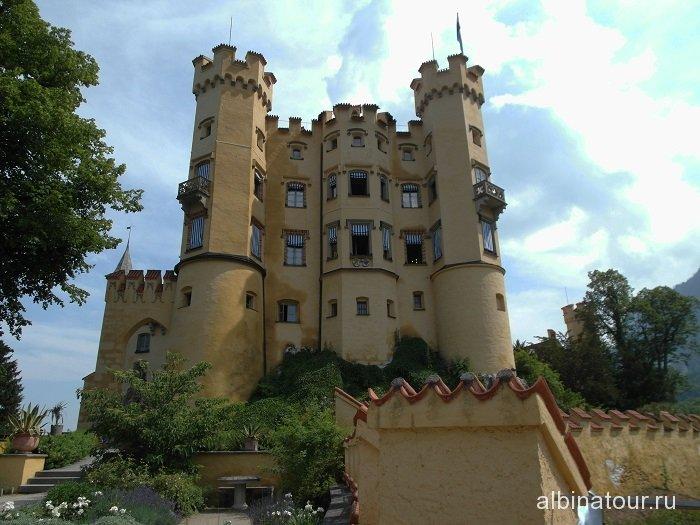 Германия фасад замка Хоэншвангау