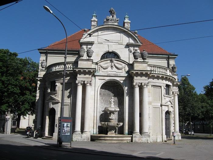 Германия Баварский национальный музей Мюнхен фонтан