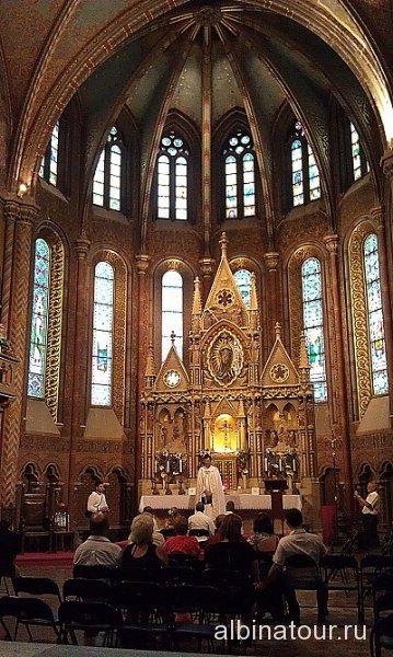 Венгрия служба в церкови Матьяша Будапешт
