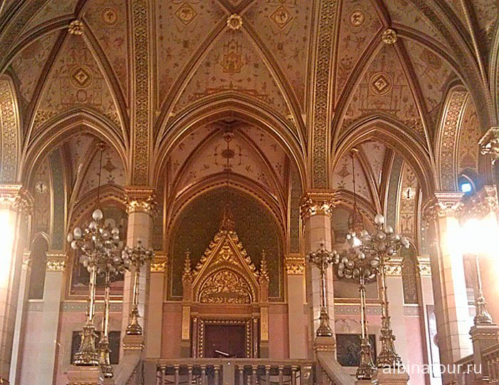 Будапешт Интерьер Венгерского парламента