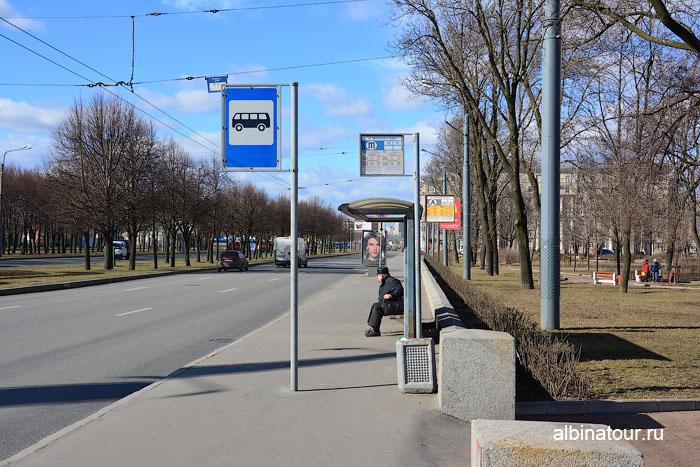 Россия Санкт-Петербург остановка у Морского вокзала