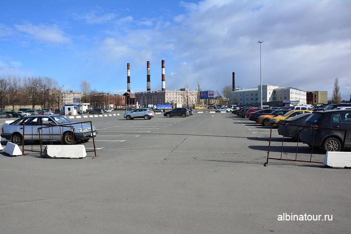 Россия Санкт-Петербург парковка у Морского вокзала 2