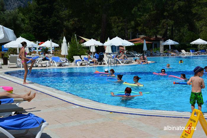 Турция Кемер отель Ма Бич аквааэробика