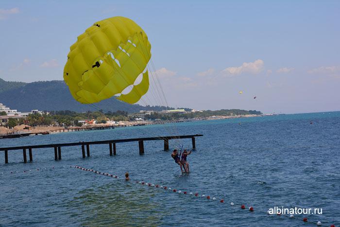 Турция Кемер отель Ма Бич  полет на парашюте 4