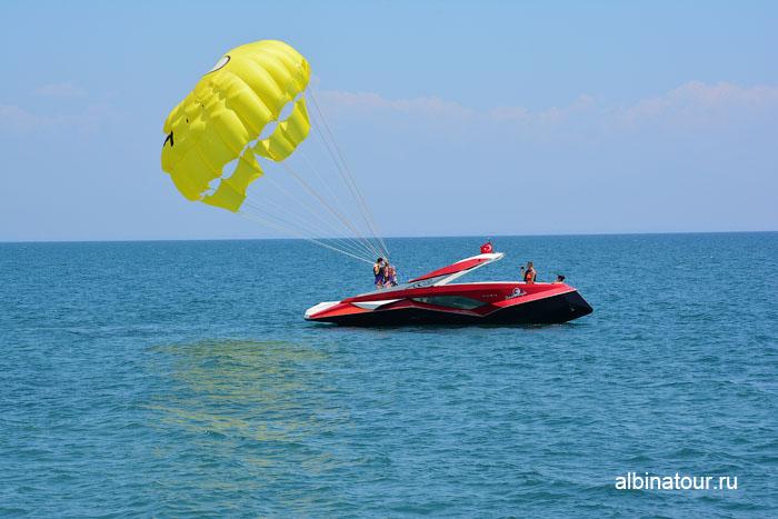 Турция Кемер отель Ма Бич  полет на парашюте 1