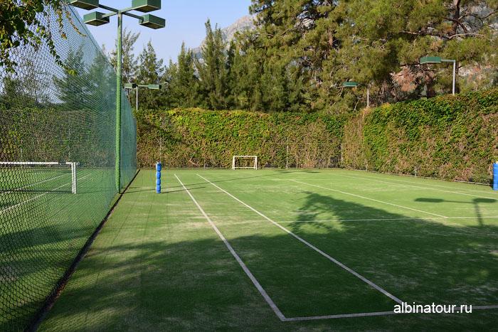 Турция Кемер отель Ма Бич теннисные корты 2