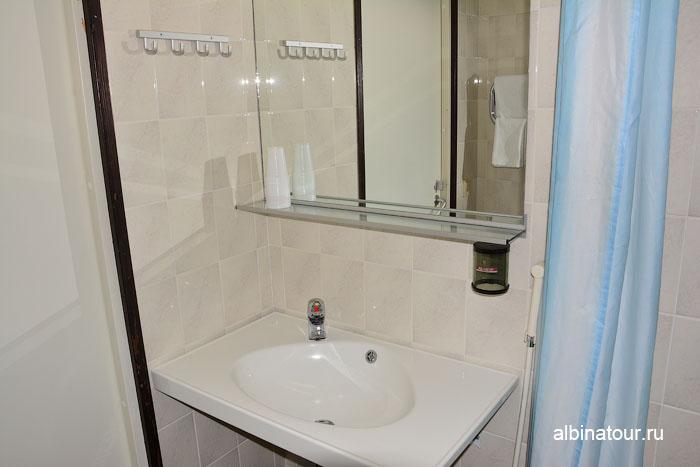 Финляндия Иматра ванная комната в номере  на втором этаже  отеля Vuoksenhovi