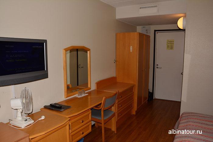 Финляндия Иматра холодильник в номере  на втором этаже  отеля Vuoksenhovi 4