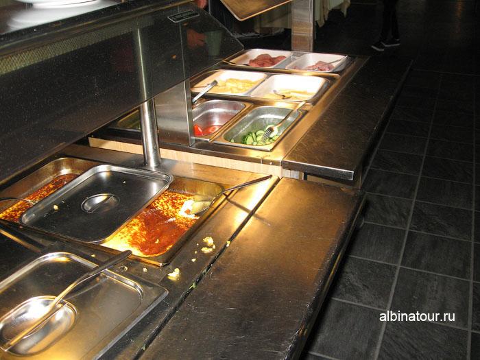 Финляндия Иматра  завтрак в ресторане на втором этаже  отеля Vuoksenhovi 2