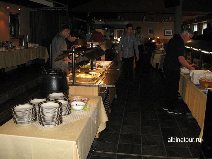 Финляндия Иматра  завтрак в ресторане на втором этаже  отеля Vuoksenhovi