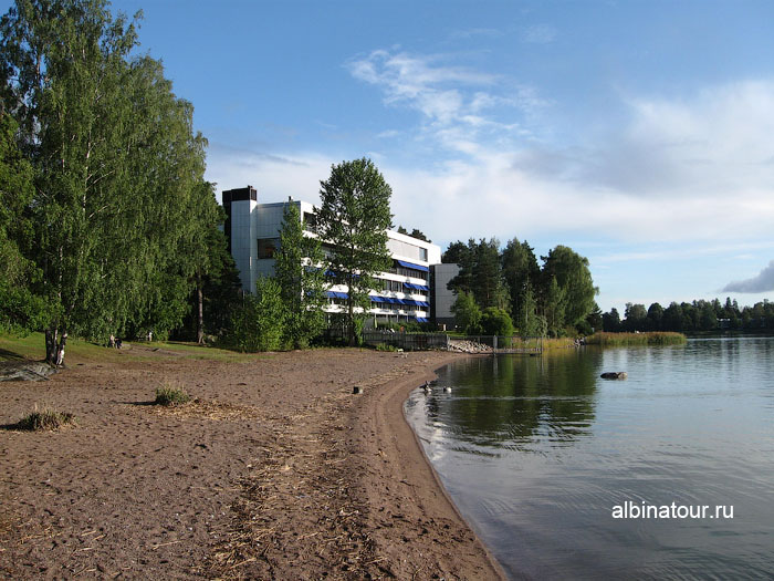 Финляндия Хельсинки отель Хилтон территория
