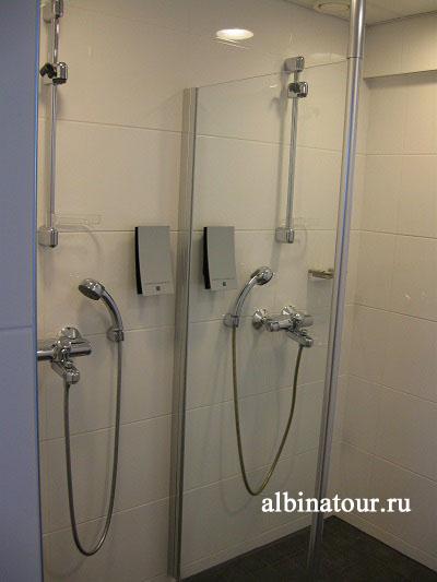 Финляндия Хельсинки отель Хилтон фитнес-зал душ