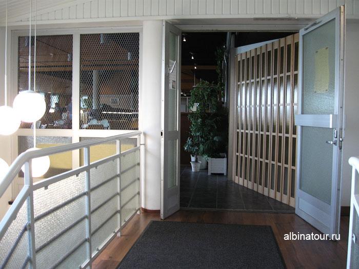 Финляндия Иматра вход в ресторан на втором этаж  отеля Vuoksenhovi