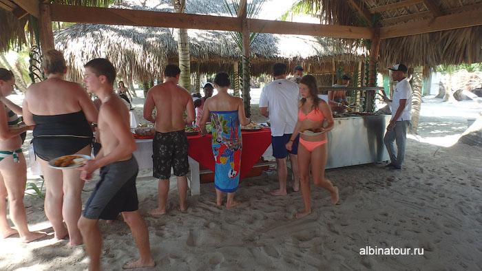Доминикана остров Saona обед 2