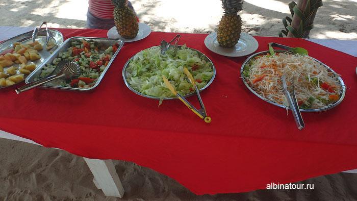 Доминикана остров Saona обед 4
