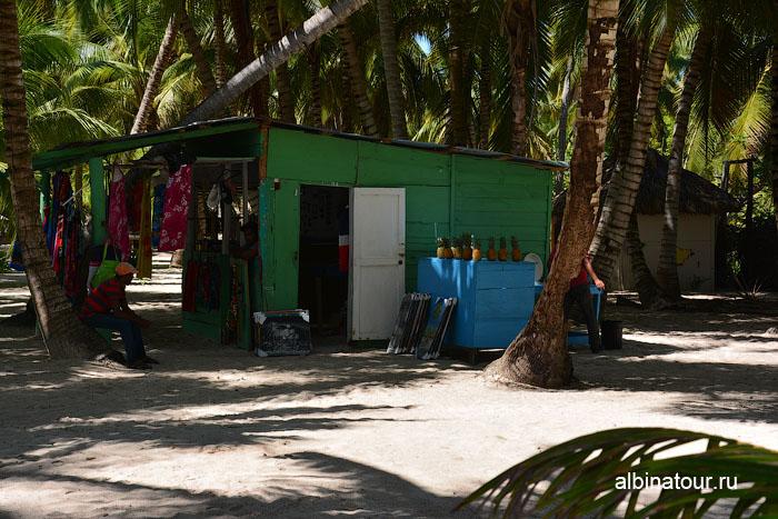 Доминикана остров Saona магазин продажа сувениров и украшений