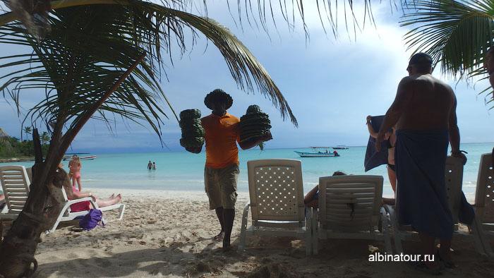 Доминикана остров Saona продажа сувениров и украшений 2
