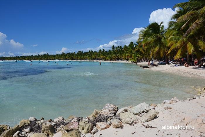 Доминикана остров Saona общественный пляж
