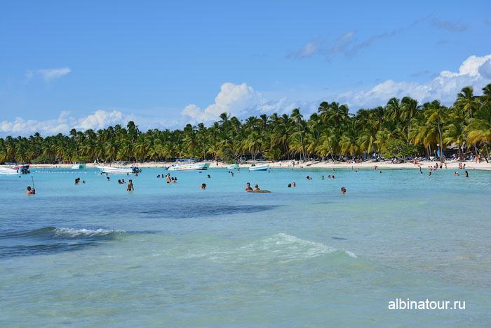 Доминикана остров Saona общественный пляж 2