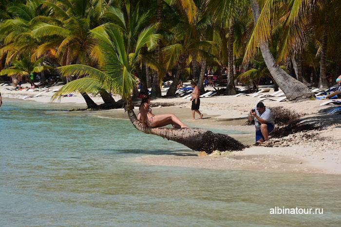 Доминикана остров Saona общественный пляж 4