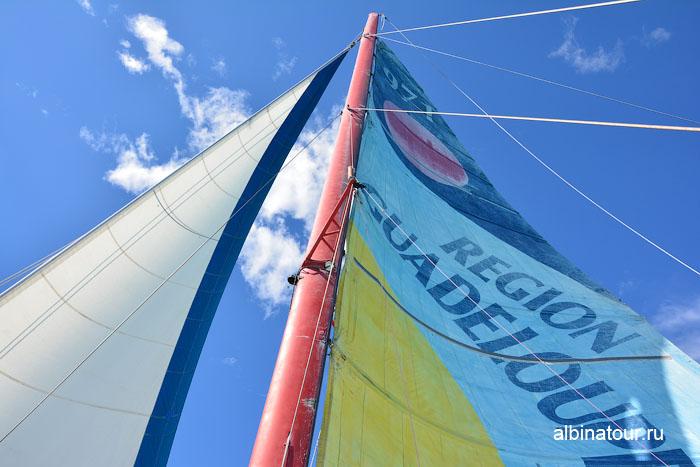 Доминикана путешествие на Саону катамаран паруса