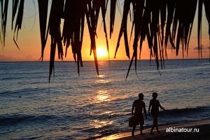 Доминикана отель Canoa закат солнца на пляже