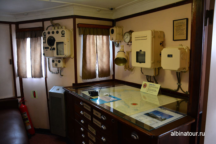 Калининград музей мирового океана судно Витязь каюта штурмана