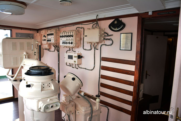 Калининград музей мирового океана судно Витязь вид с мостика капитана 2