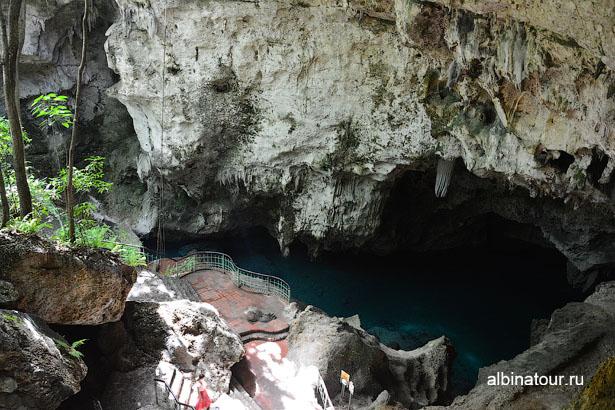 Доминикана Санто Доминго пещеры три глаза спуск 2