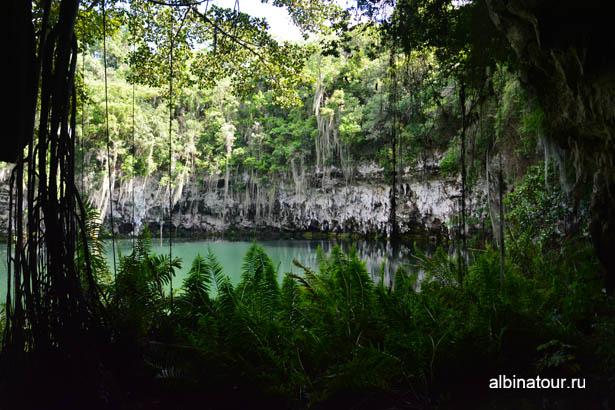 Санто Доминго пещеры три глаза третье озеро 2