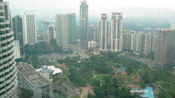 Малайзия вид Куала Лумпупа с башни Petronas