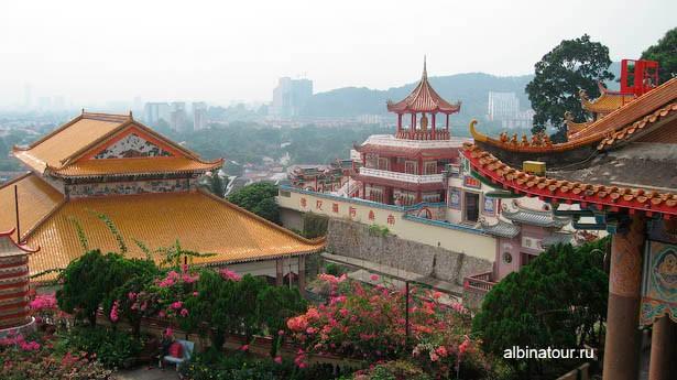 Пенанг kek-lok-si вид на окрестности