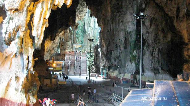 Малайзия пещеры Бату / Batu Caves вид в нутри