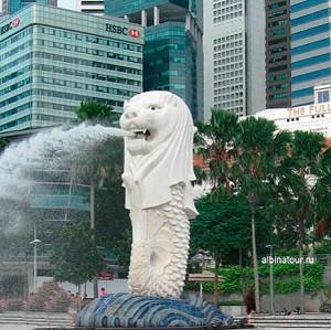 Сингапур символ города Мерлайон
