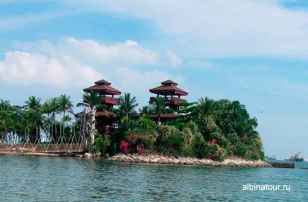 Сингапур остров Сентоза вид на южную точку Азии