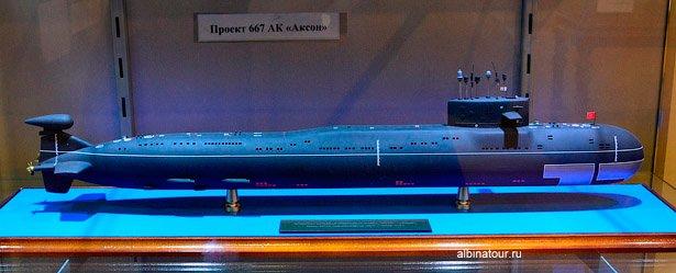 Экспонат атомная подводная лодка Военно-морской музей