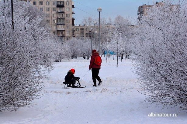 Дорога к горкам в яблоневом саду СПб