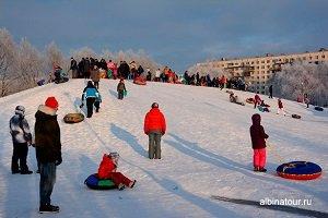 Зима Яблоневый сад Петербург